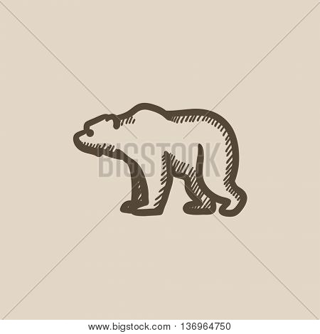 Bear vector sketch icon isolated on background. Hand drawn Bear icon. Bear sketch icon for infographic, website or app.