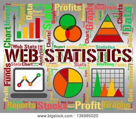 Web Statistics Shows Business Graph And Analysing