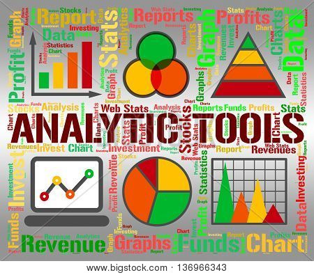 Analytic Tools Shows Data Analytics And Graph