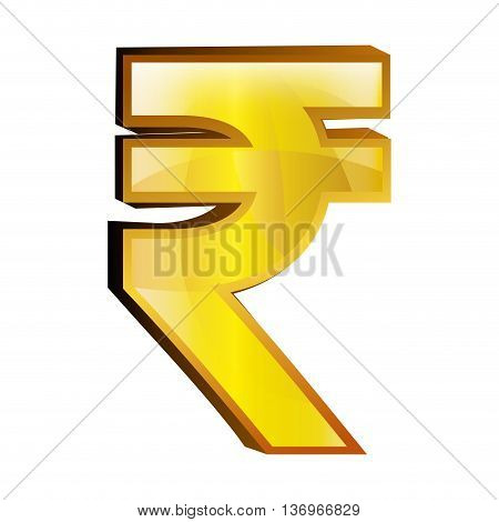 Currency money Rupiah symbol icon over white background, vector illustration.