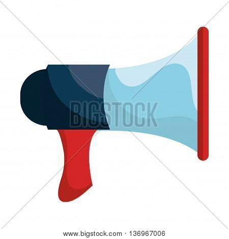 Bullhorn or megaphone isolated icon overwhite background, vector illustration.