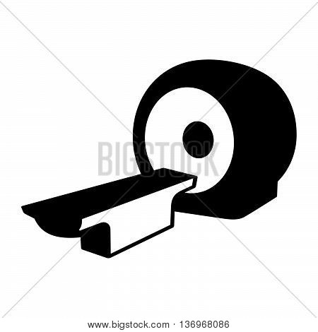 MRI scanner ( shade picture ) on white background