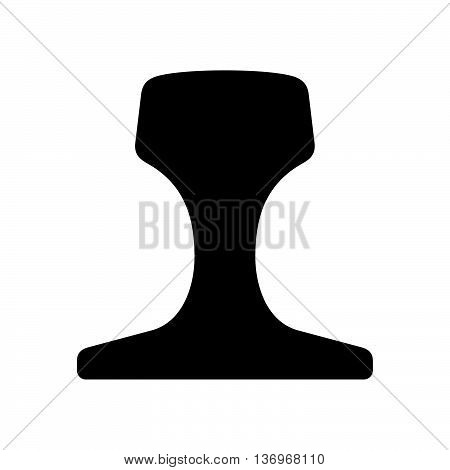 Rail profile ( shade picture ) on white background