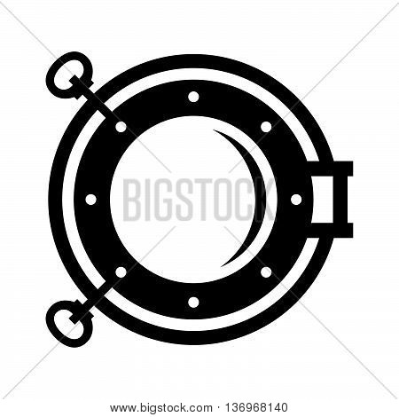Porthole ( shade picture ) on white background