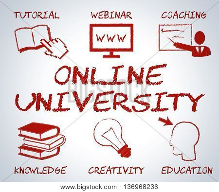 Online University Represents Web Site And College