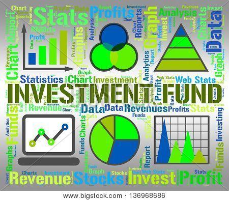 Investment Fund Shows Financial Charts And Graphic