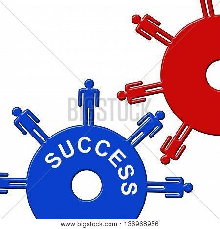 Success Cogs Indicates Gear Wheel And Clockwork
