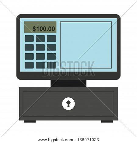cash register isolated icon design, vector illustration  graphic