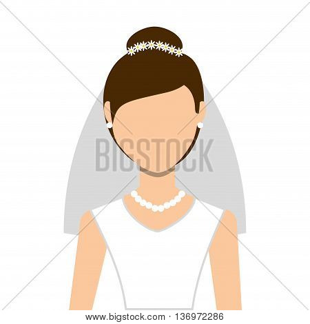 wife wedding dress isolated icon design, vector illustration  graphic