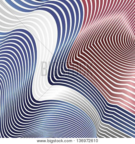 Abstract curved lines in the form of waves. Modern background. Relief color zigzags.
