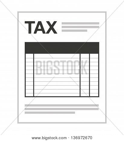 tax form isolated icon design, vector illustration  graphic