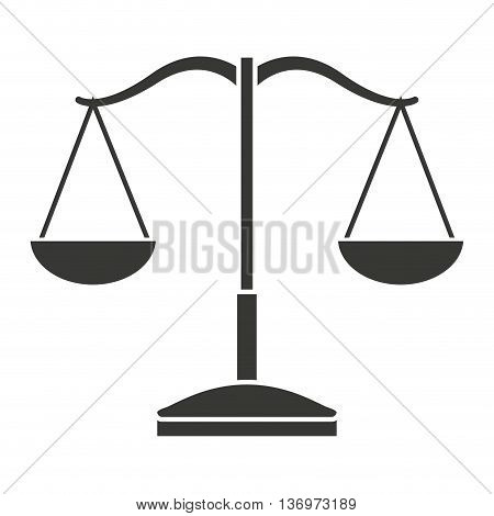 balance scale isolated icon design, vector illustration  graphic