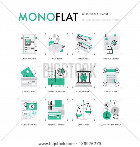 Finance Banking Monoflat Icons
