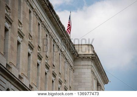 Russel Building Senate Capitol In Washington Dc