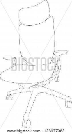 3D Rendering Of Office Chair