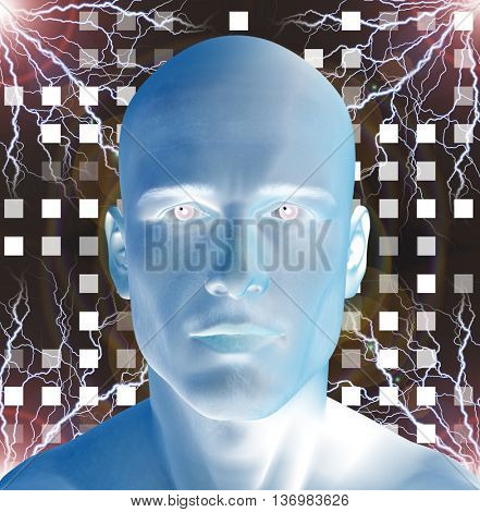 Future man 3D Render
