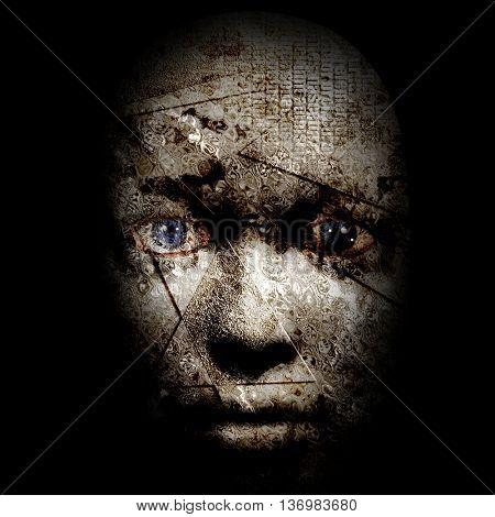 Human Pain Face 3D Render