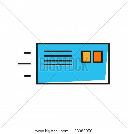 Letter in envelope. Mail, post office, correspondence, writing letter. Mail concept. Can be used for topics like mail, correspondence, communication