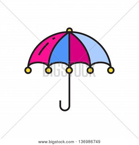 Open umbrella. Rainy weather, raining, weather forecast. Weather concept. Can be used for topics like weather, accessory, season