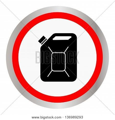 Fuel Can vector icon. Jerrycan oil. vector icon