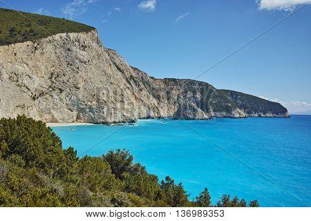 Amazing Seascape of Porto Katsiki Beach, Lefkada, Ionian Islands, Greece
