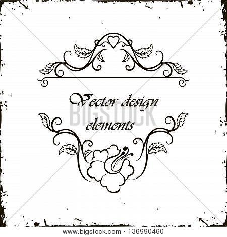 Vector calligraphy ornamental decorative frame border design