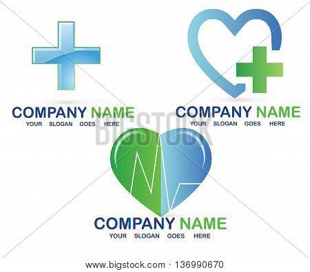 Medical logo vector. Pharmaceutical symbol design isolated on white background.L