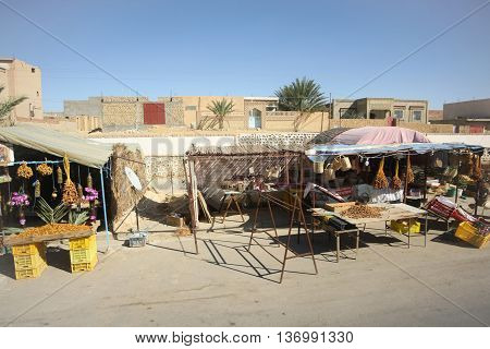Food Stands With Dates In Tozeur