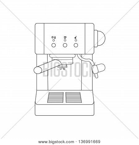 Coffee espresso machine path on the white background. Vector illustration