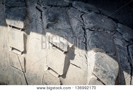 Cracked Damaged Industrial Vehicle Tyre