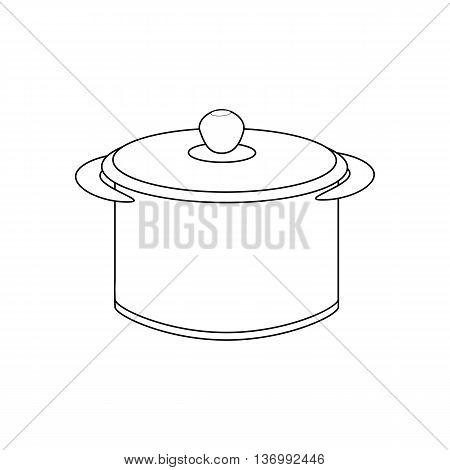 Saucepan illustration path on the white background. Vector illustration