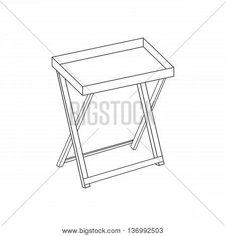 Serving table path on the white background. Vector illustration