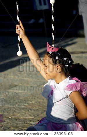 Montenegro, Herceg Novi - 04/06/2016: Dancing girls fairies. 10 International Children's Carnival