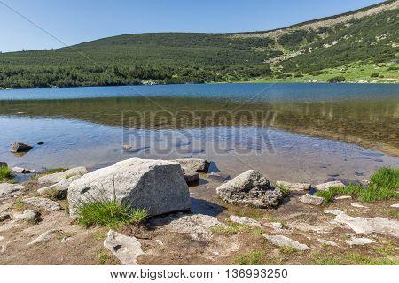 Amazing landscape of  Bezbog lake, Pirin Mountain, Bulgaria