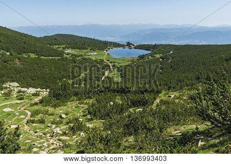 Amazing Panorama around Bezbog lake, Pirin Mountain, Bulgaria