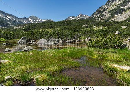 Amazing Landscape of Dzhano peak and banski lakes, Pirin Mountain, Bulgaria