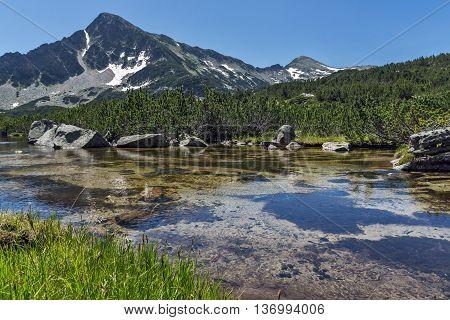 Amazing landscape of Sivrya peak and Banski lakes, Pirin Mountain, Bulgaria
