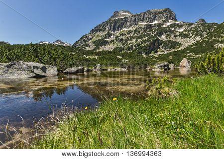 Amazing panorama of Dzhangal peak and Banski lakes, Pirin Mountain, Bulgaria