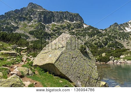 Amazing view of Dzhangal peak and Banski lakes, Pirin Mountain, Bulgaria