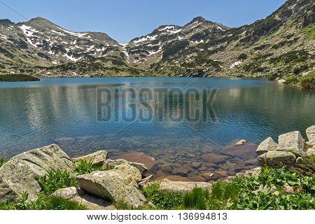 Panoramic view of Popovo lake, Pirin Mountain, Bulgaria