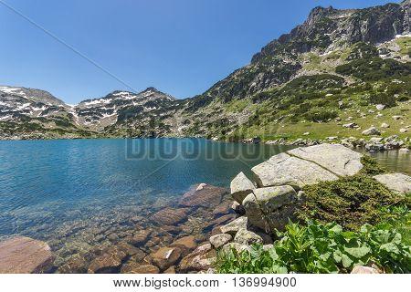 Dzhangal peak and Popovo lake, Pirin Mountain, Bulgaria