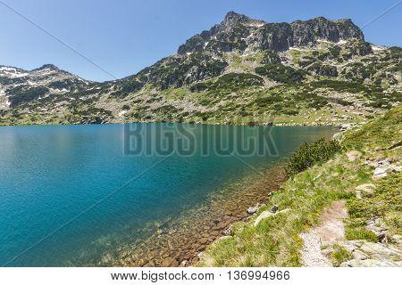 Amazing view of Dzhangal peak and Popovo lake, Pirin Mountain, Bulgaria