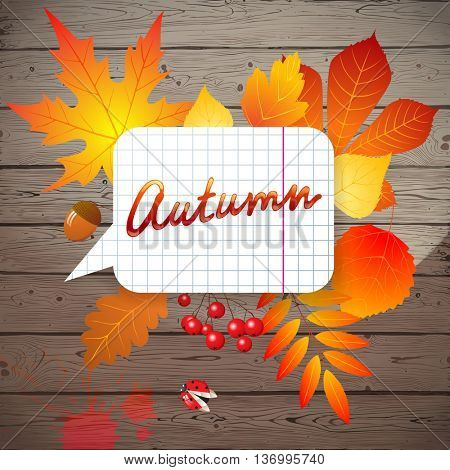Bright creative background with autumn leaves