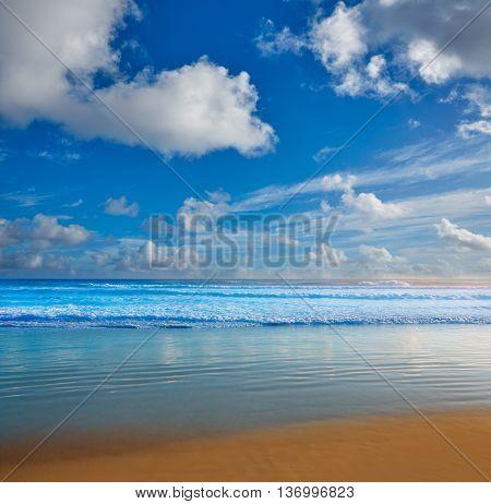 Daytona Beach in Florida shore waves of USA