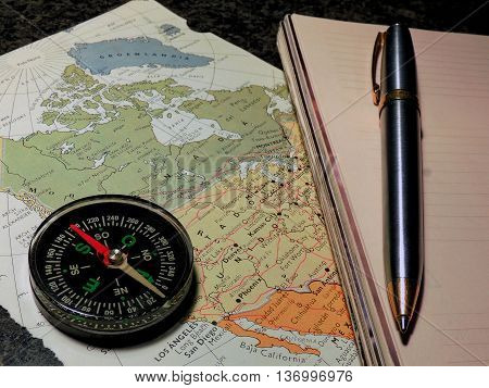 Preparing the travel route to take different destinations.