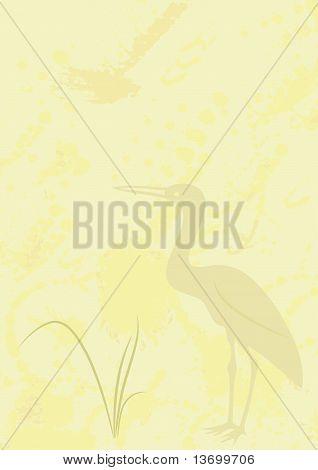 Hintergrund mit Heron - vector