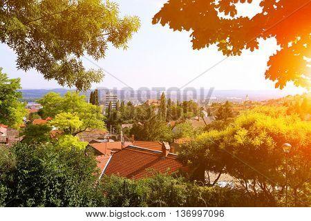 Pecs city landscape