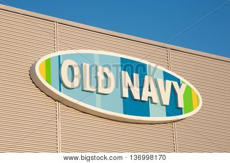 DARTMOUTH CANADA - JULY 03 2016: Old Navy is a retail clothing and accessories chain. It is a division of Gap Inc. and was founded in 1994.