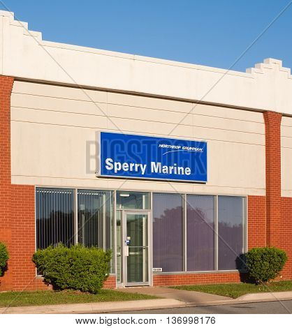 DARTMOUTH CANADA - JULY 03 2016: Sperry Marine is a marine electronics company owned by Northrop Grumman. Sperry Marine has over 500 employees in more than 15 countries.
