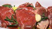 Raw Lamb Marinated In Garlic Olive Oil And Rosemary